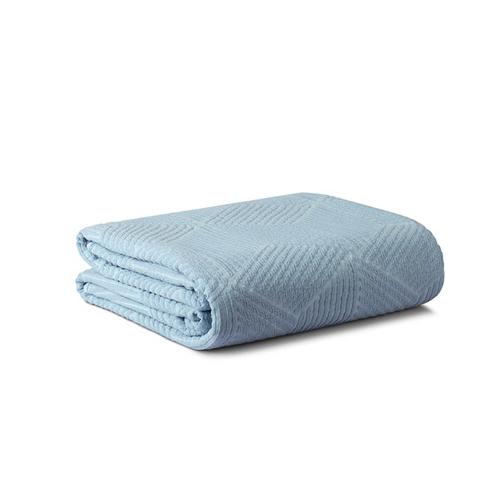 小雪提花四季毯大号双人毯家纺效果图