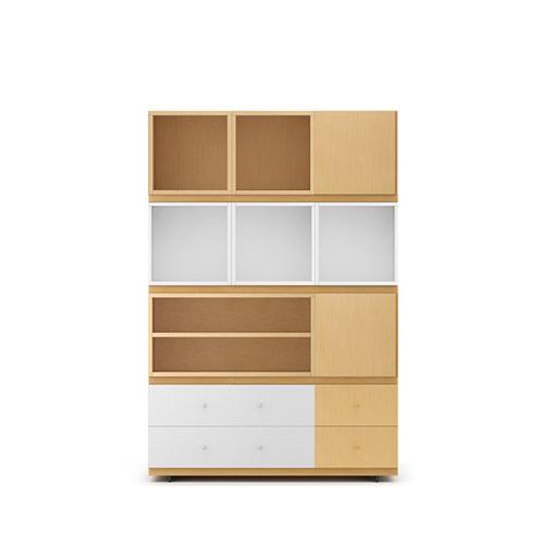 COSMO星格™书柜1.2米宽书柜A款柜架效果图