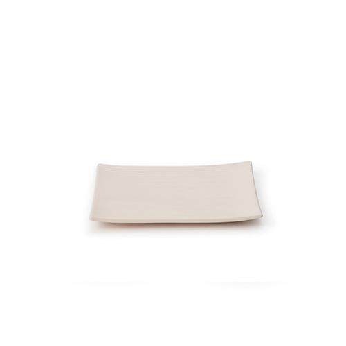 折简浸釉餐具组®-盘碗正方平盘餐具效果图
