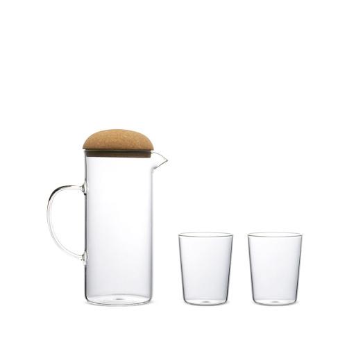 蘑菇高硼硅水壶套装