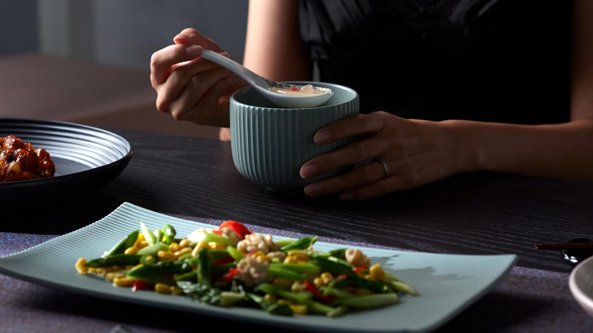 晌午一人食,将温度保留刚好
