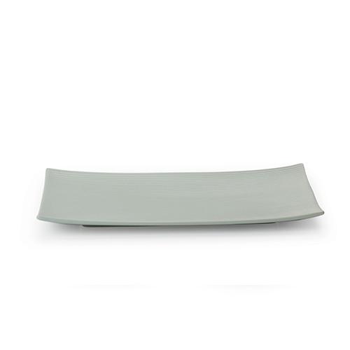 折简餐具组-盘碗大长方平盘餐具效果图