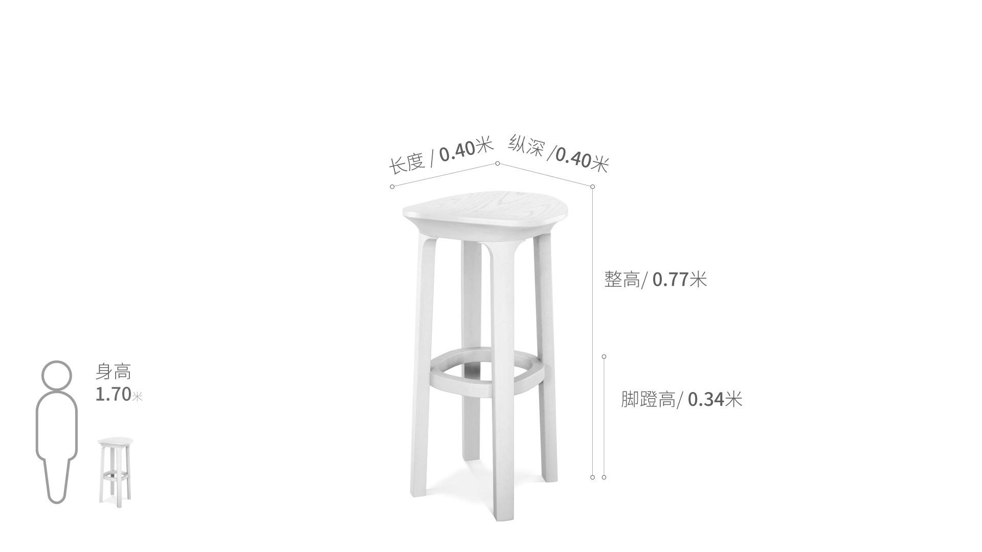 瓦檐实木小凳®高凳椅凳效果图