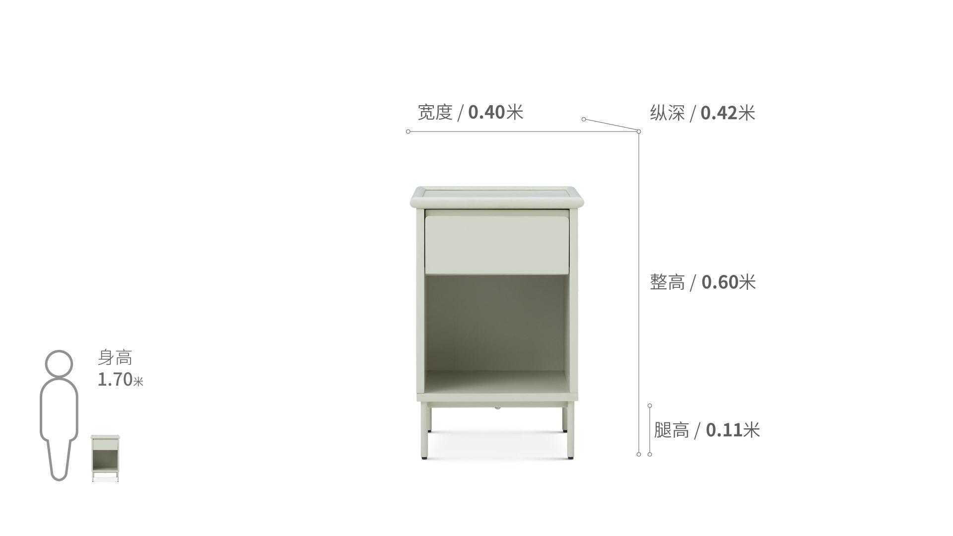 美术馆床头柜柜架效果图
