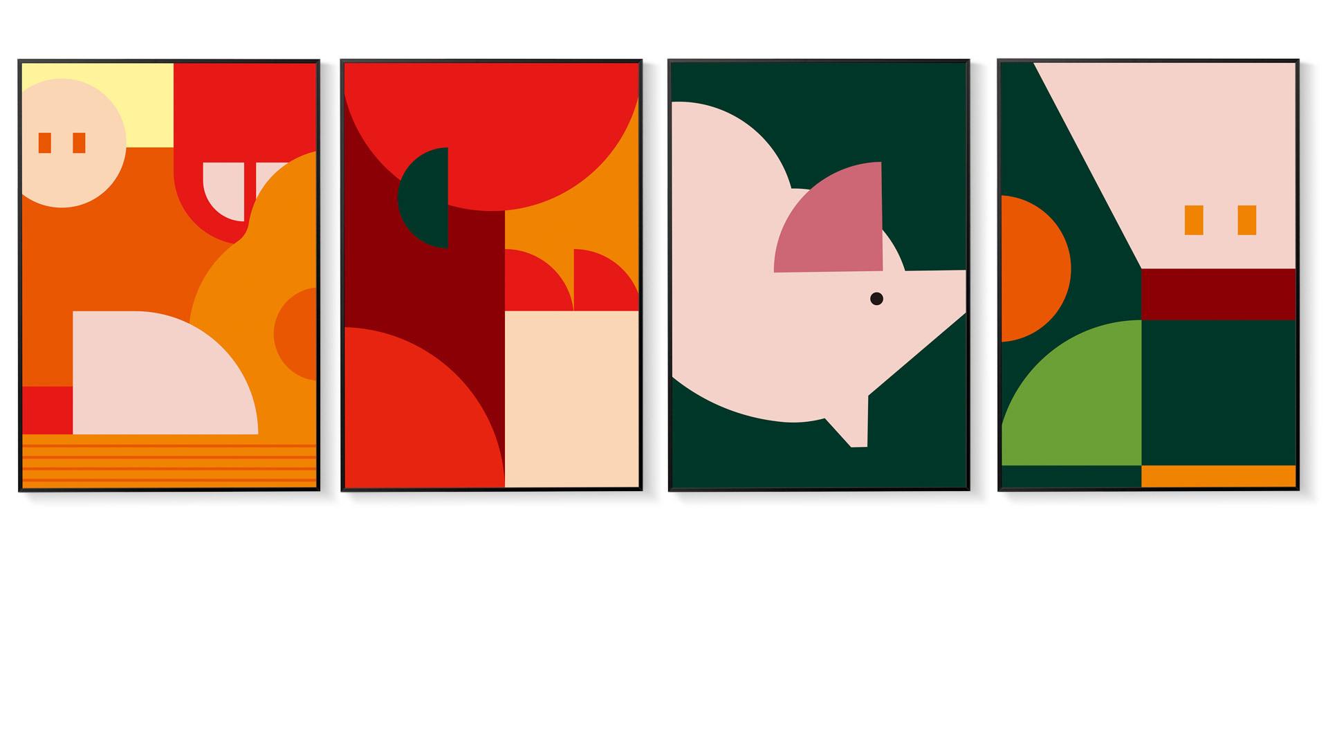 色块交叠,4种青春表情