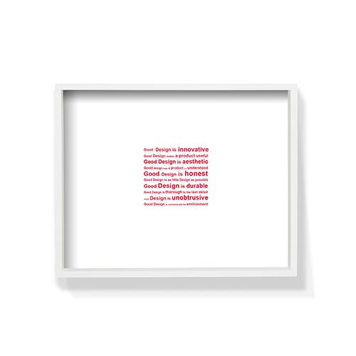 作画-英文系列之Design白色框装饰效果图