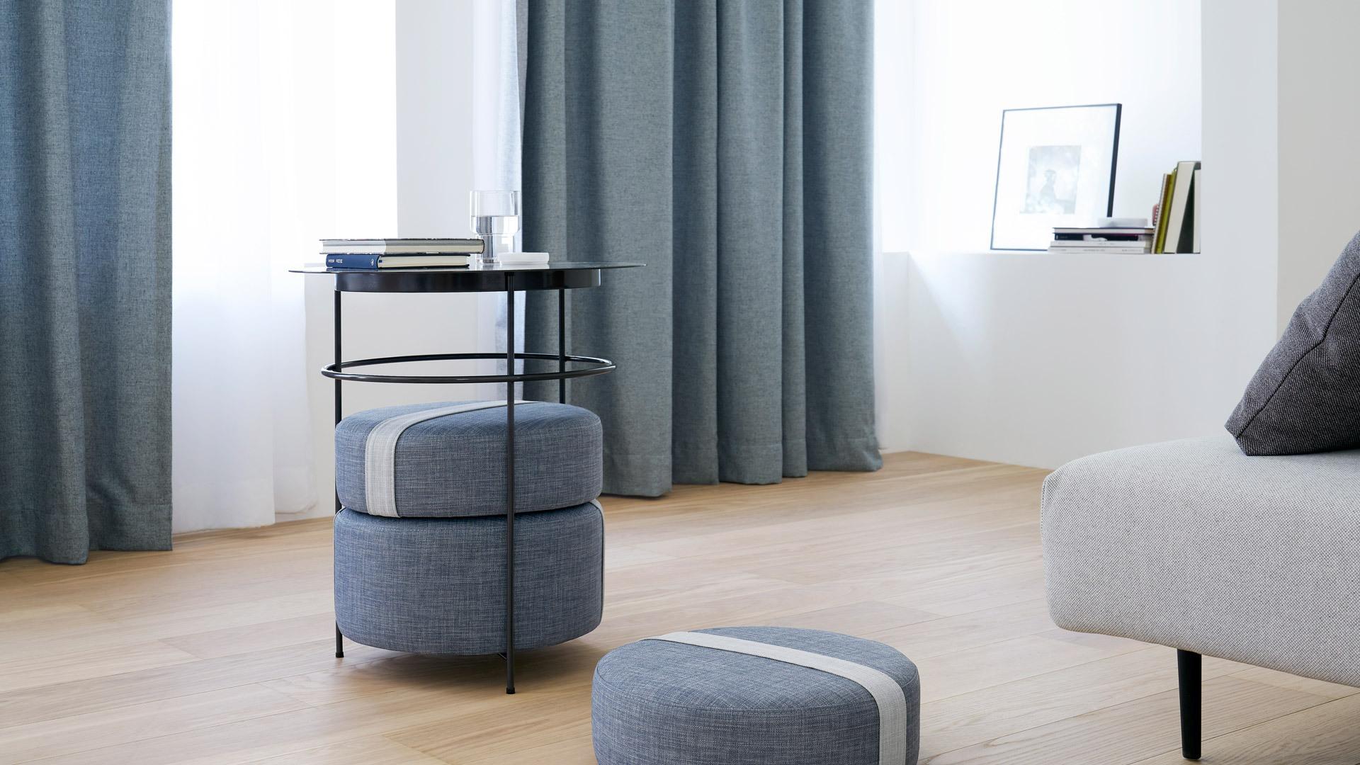 石青提带新色上线,典雅修饰空间美感