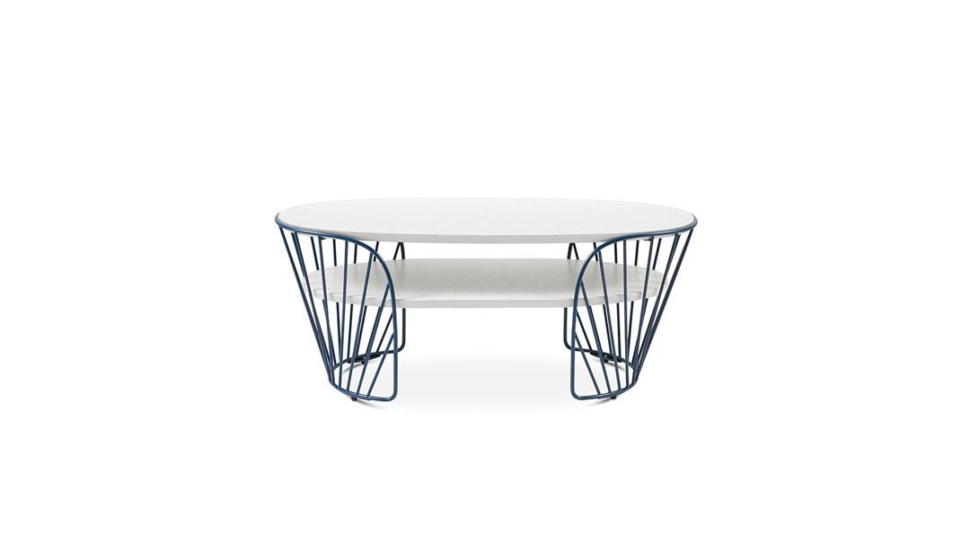 造作蝴蝶边桌®双层桌几