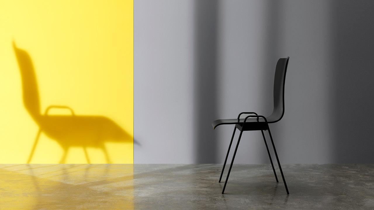 洛城酷型,一组可叠摞的耐看多功能椅