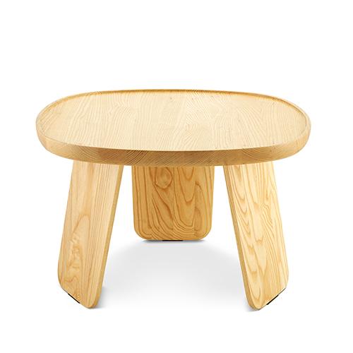 造作花间实木小桌™矮桌(全圆款)柜架效果图