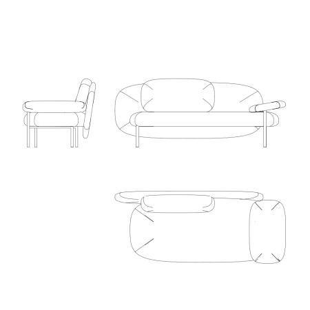 它的形体是有机的,同时兼顾人体的舒适度,并且节约空间。