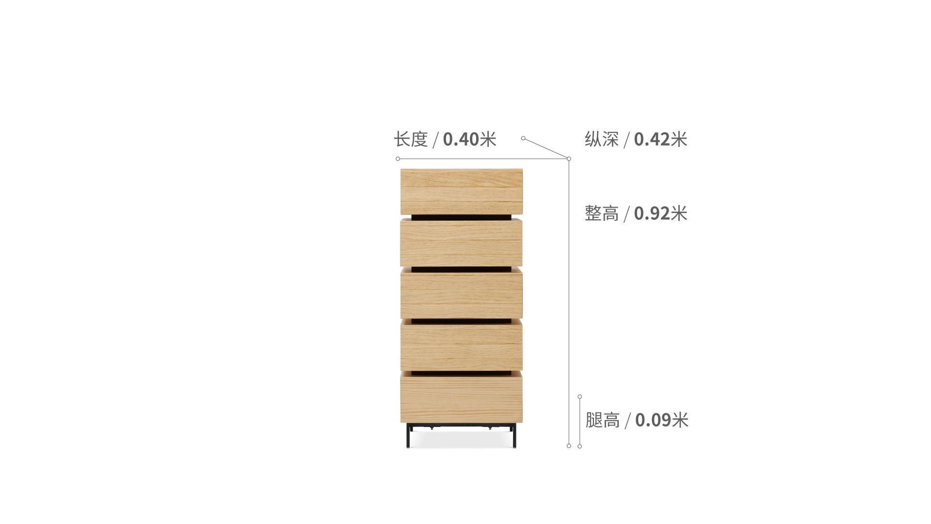 流方斗柜五层窄柜柜架效果图
