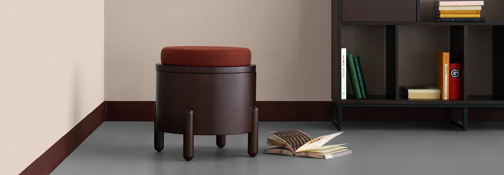 坐墩+收纳+边桌,萌化空间的多用甜心