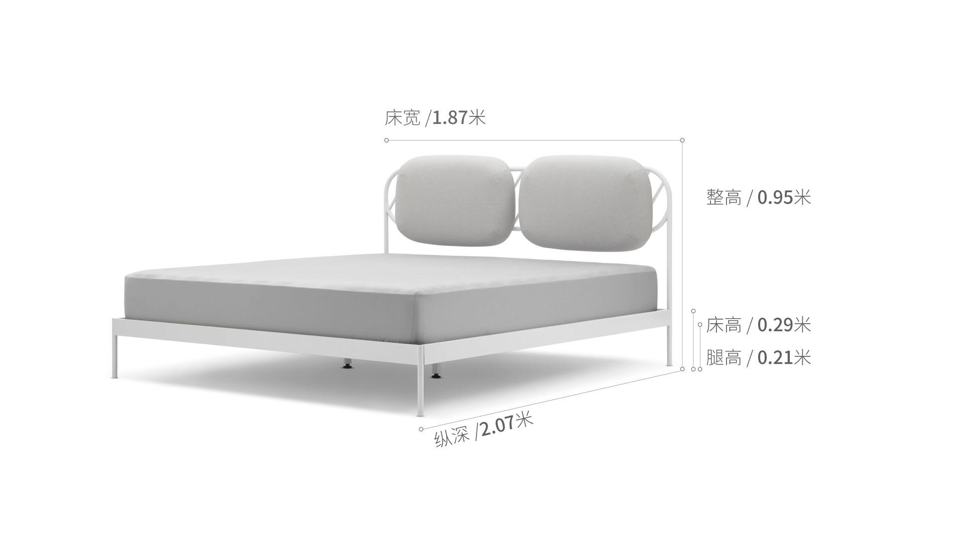奶糖床1.8米款床·床品效果图