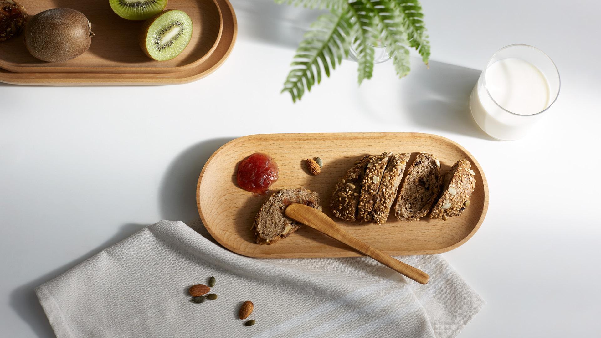 盛放全麦主食,健康减负饮食