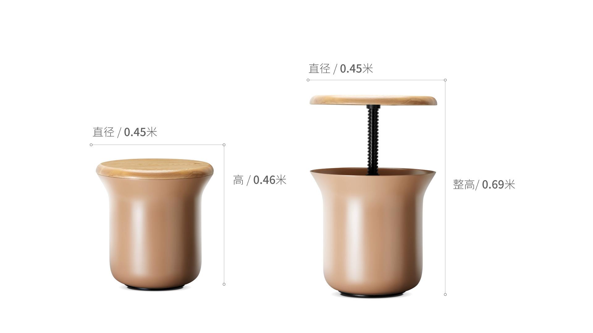 旋木多用小凳柜架效果图