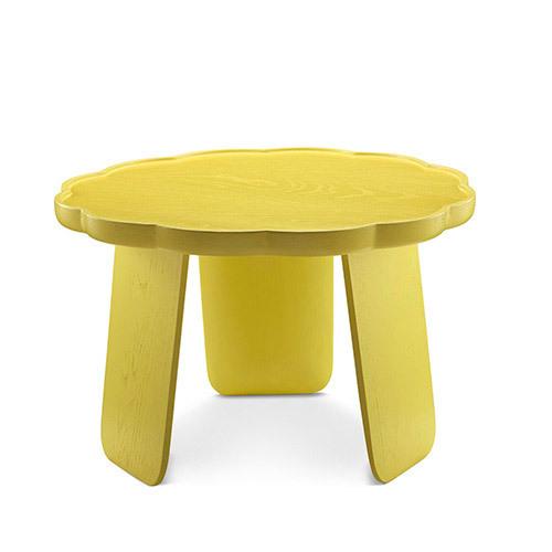 造作花间实木小桌®矮桌(多叶款)桌几效果图