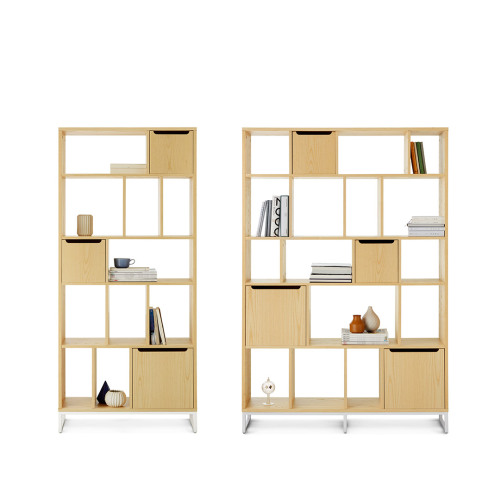 画板书架+储物盒组合(3大+4小储物盒)