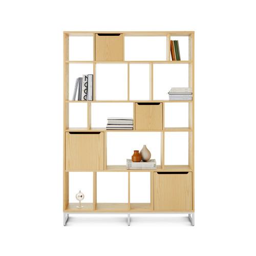 畫板書架+儲物盒組合B