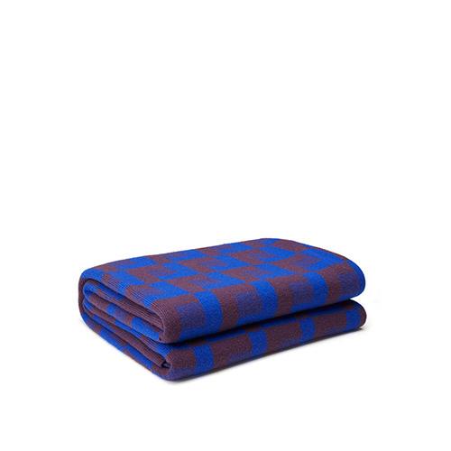 霓虹澳洲羊毛提花针织毯