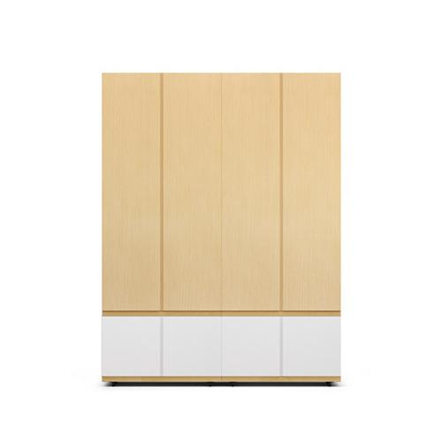 COSMO星格™衣柜·斗柜2.1米高4门衣柜D柜架效果图