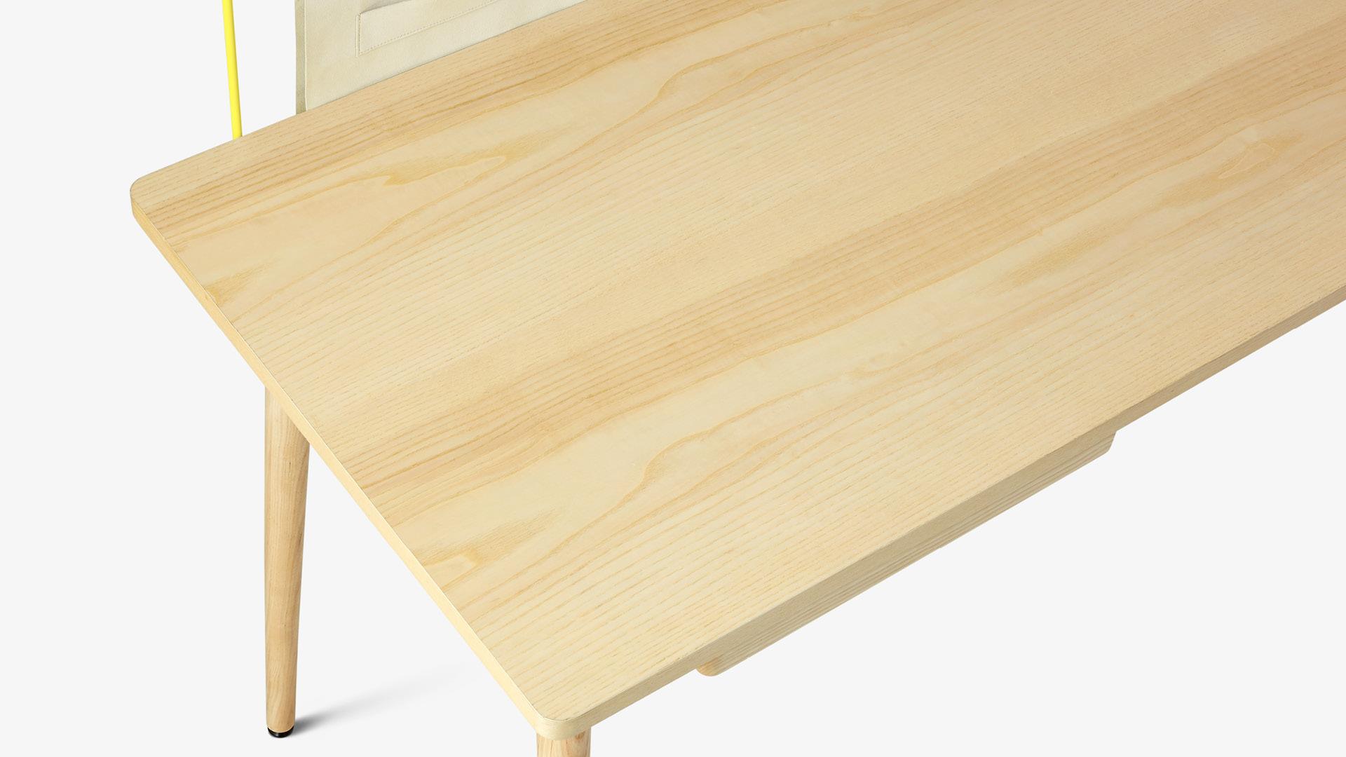 360°進口白蠟木皮包裹,溫潤木感凹凸可觸
