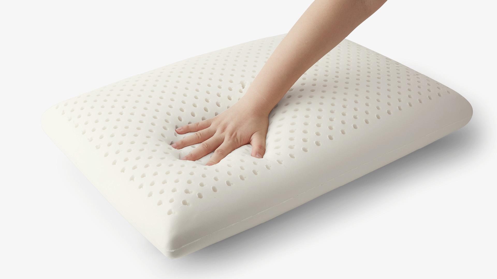 1.天然乳胶枕丨手机低头族、疲累办公颈的理想支撑
