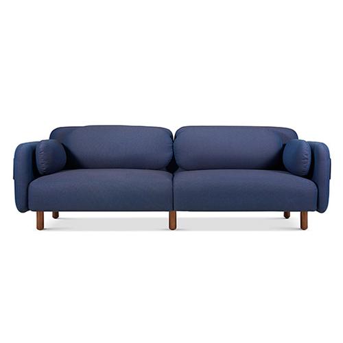 鹅卵石沙发三人座沙发效果图