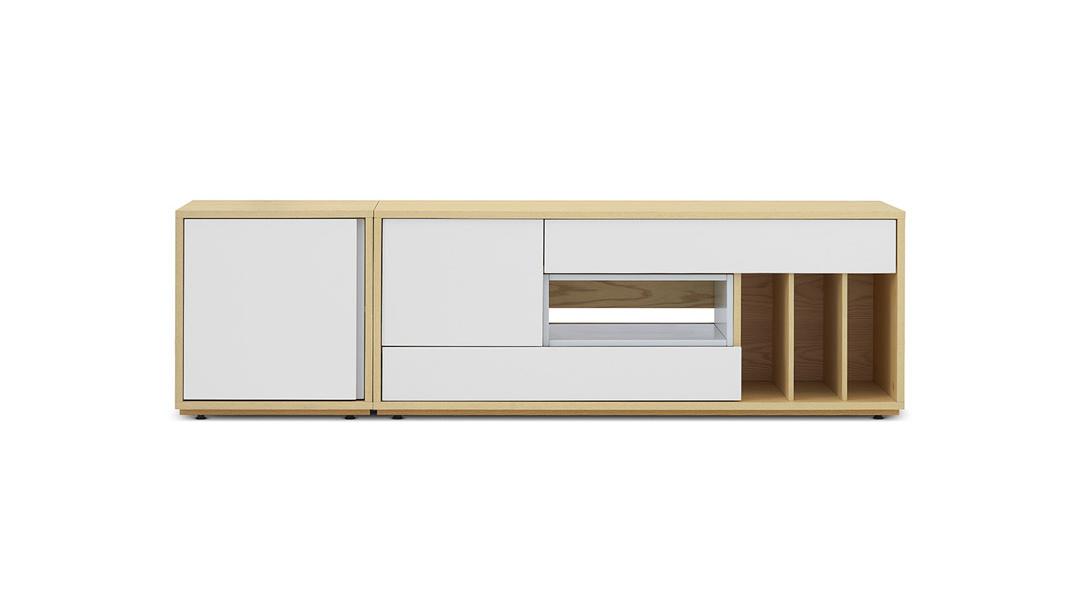 青山电视柜1.85米宽柜体+空盒柜架