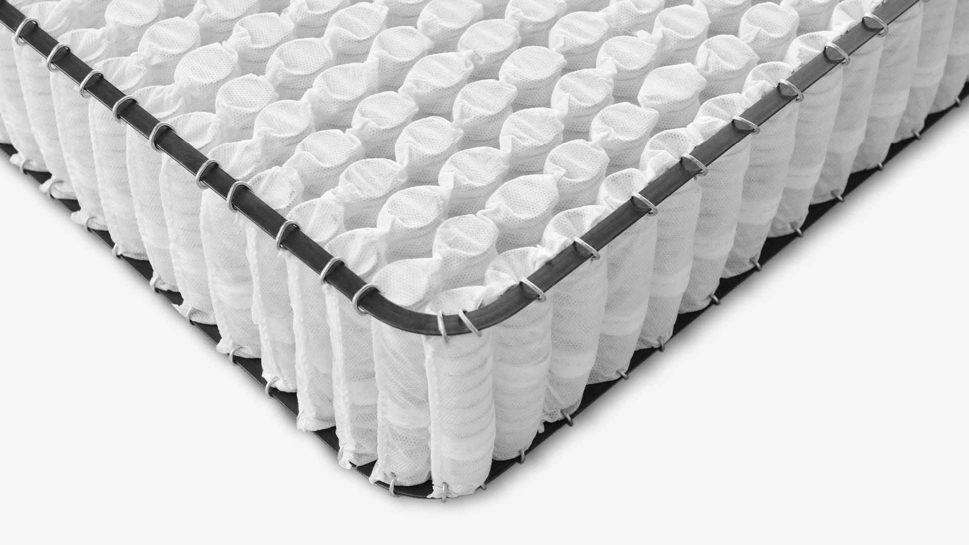 近3000支弹簧承托,四倍于高端床垫的用量<br/>人体工学设计,静音回弹慢而软