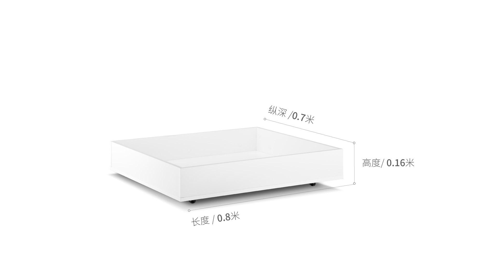 画板床®床下储物盒床·床具效果图