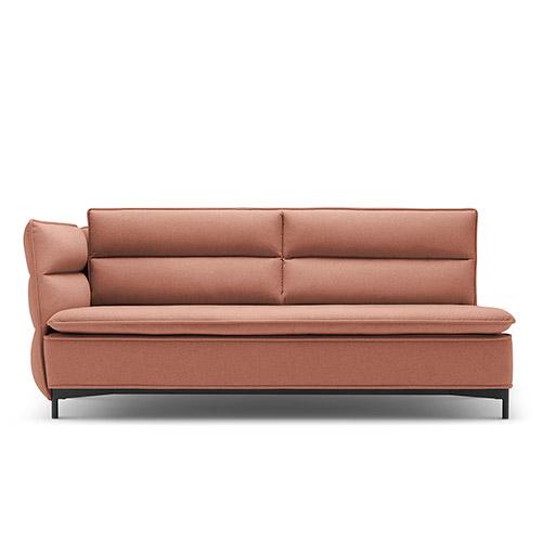 半月湾沙发矮背双人座单扶手沙发效果图