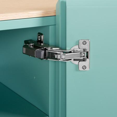 柜门155°最大掀开角度,来自奥地利原装进口BLUM铰链连接,经得起10年以上反复开合