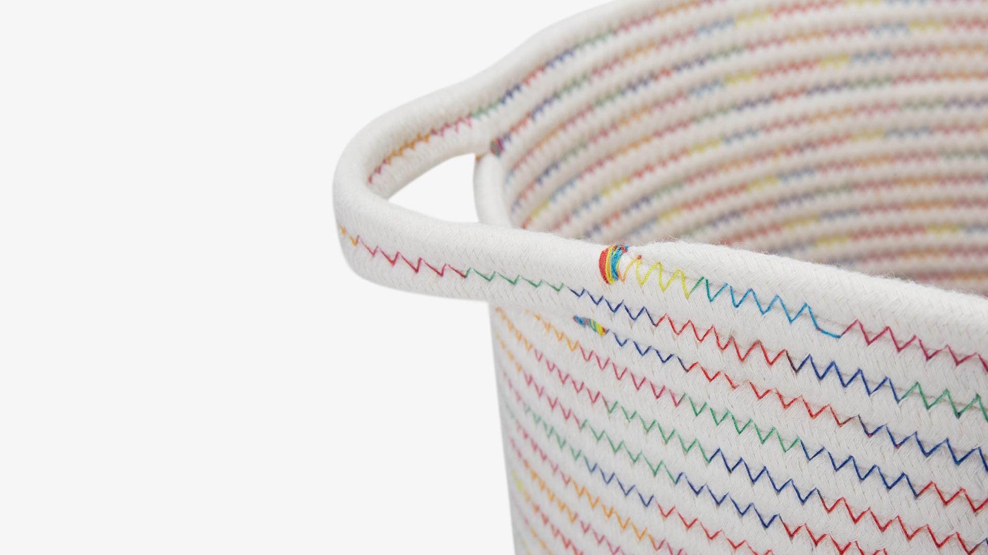 八股包芯棉绳<br/>内外双面之字形走线