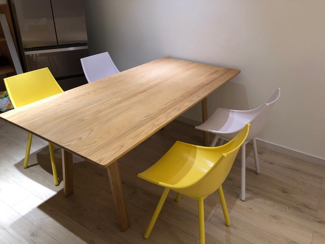 koaidy对飞鸟实木长桌 1.8米发布的晒单效果图及评价