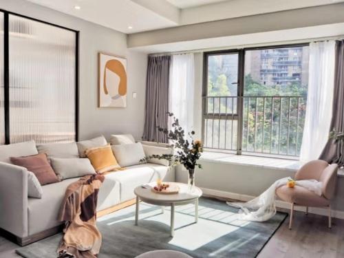 Mona对凝沙新西兰羊毛手织地毯发布的晒单效果图及评价