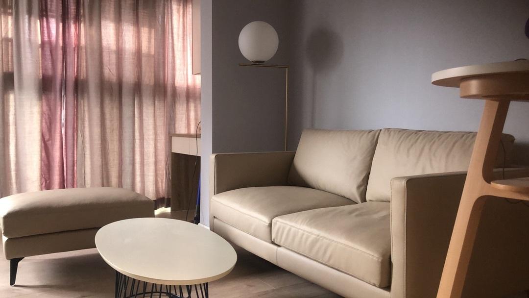 沈对造作星期天沙发超韧人工皮版™发布的晒单效果图及评价